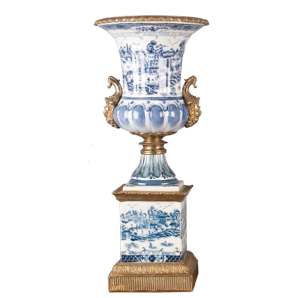 Antique White Porcelain Vases Of Porcelain Trophy Vase Bronze ormolu Brass Burl 14029 Pertaining to Porcelain Trophy Vase Bronze ormolu