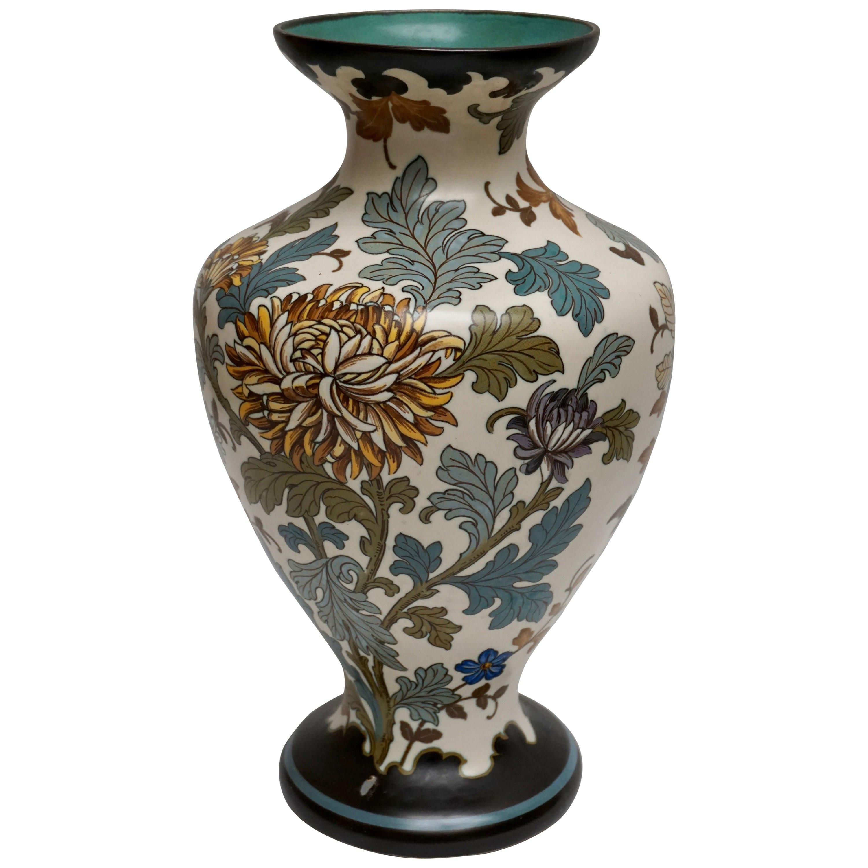 Art Deco Vases Antique Of Large Antique French Sarreguemines Vase at 1stdibs Inside 8740583 org