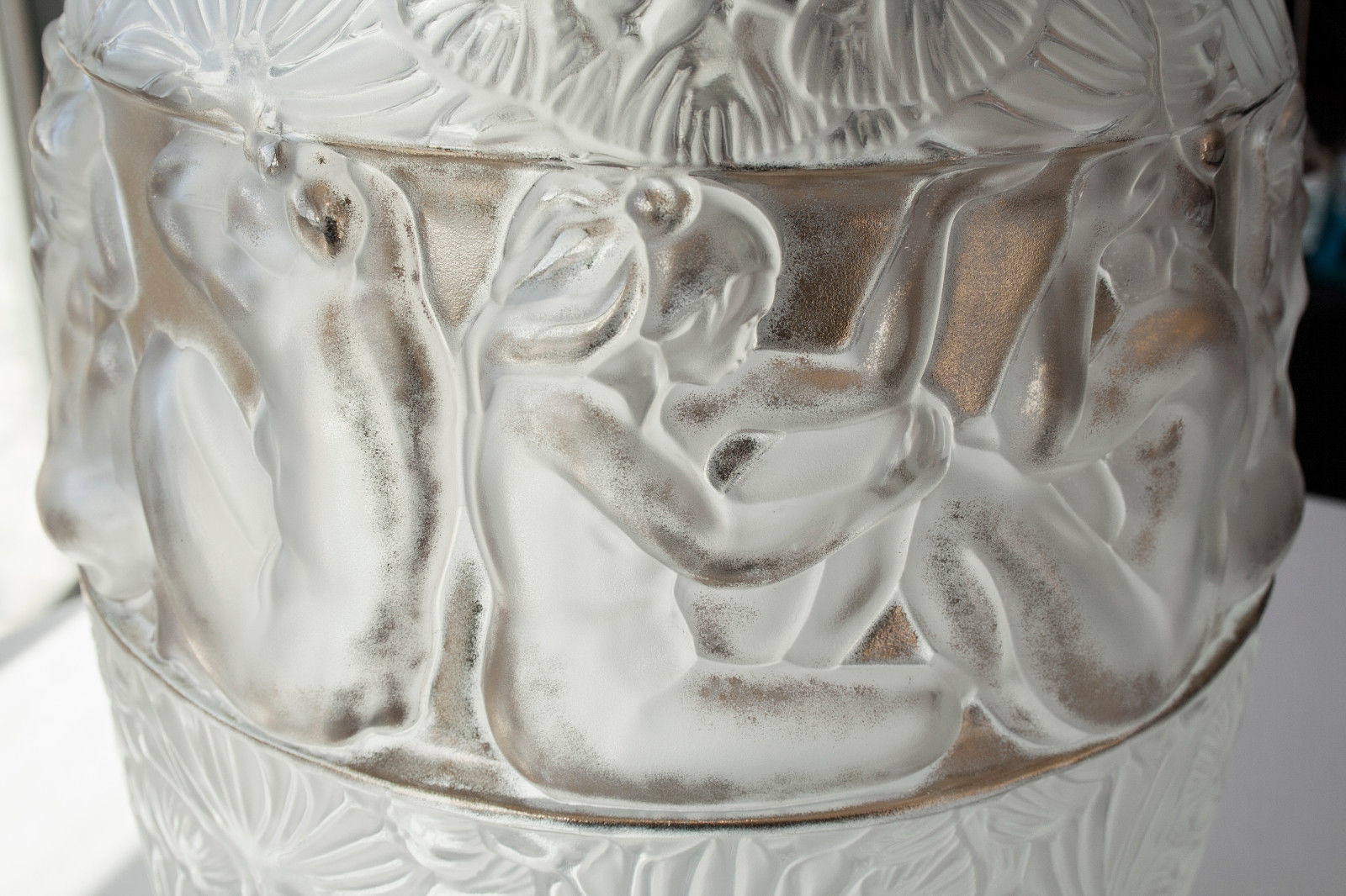 art glass vases ebay of lalique french art glass angelique vase clear gold guilding glass for lalique french art glass angelique vase clear gold guilding glass limited ed