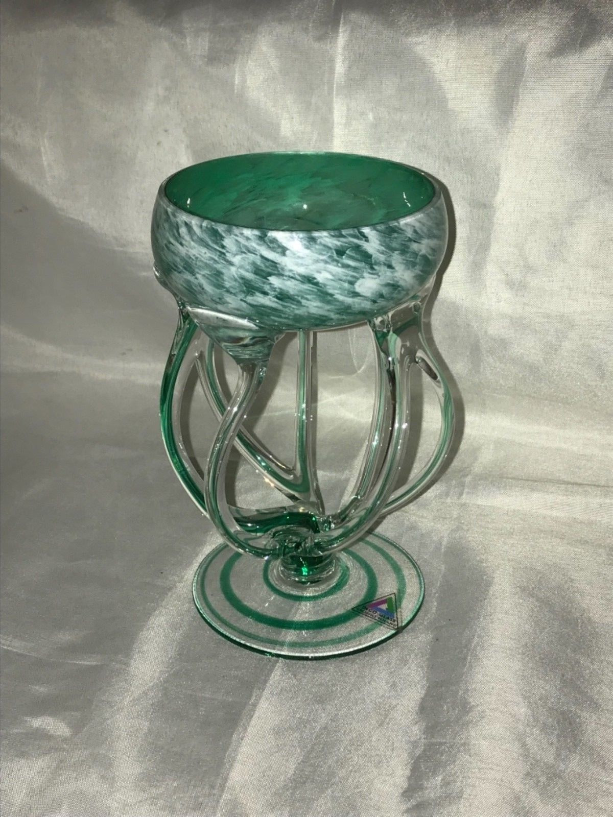 art nouveau glass vase of green emerald art deco glass jozefina krosno poland hand blown regarding 8 of 8 see more