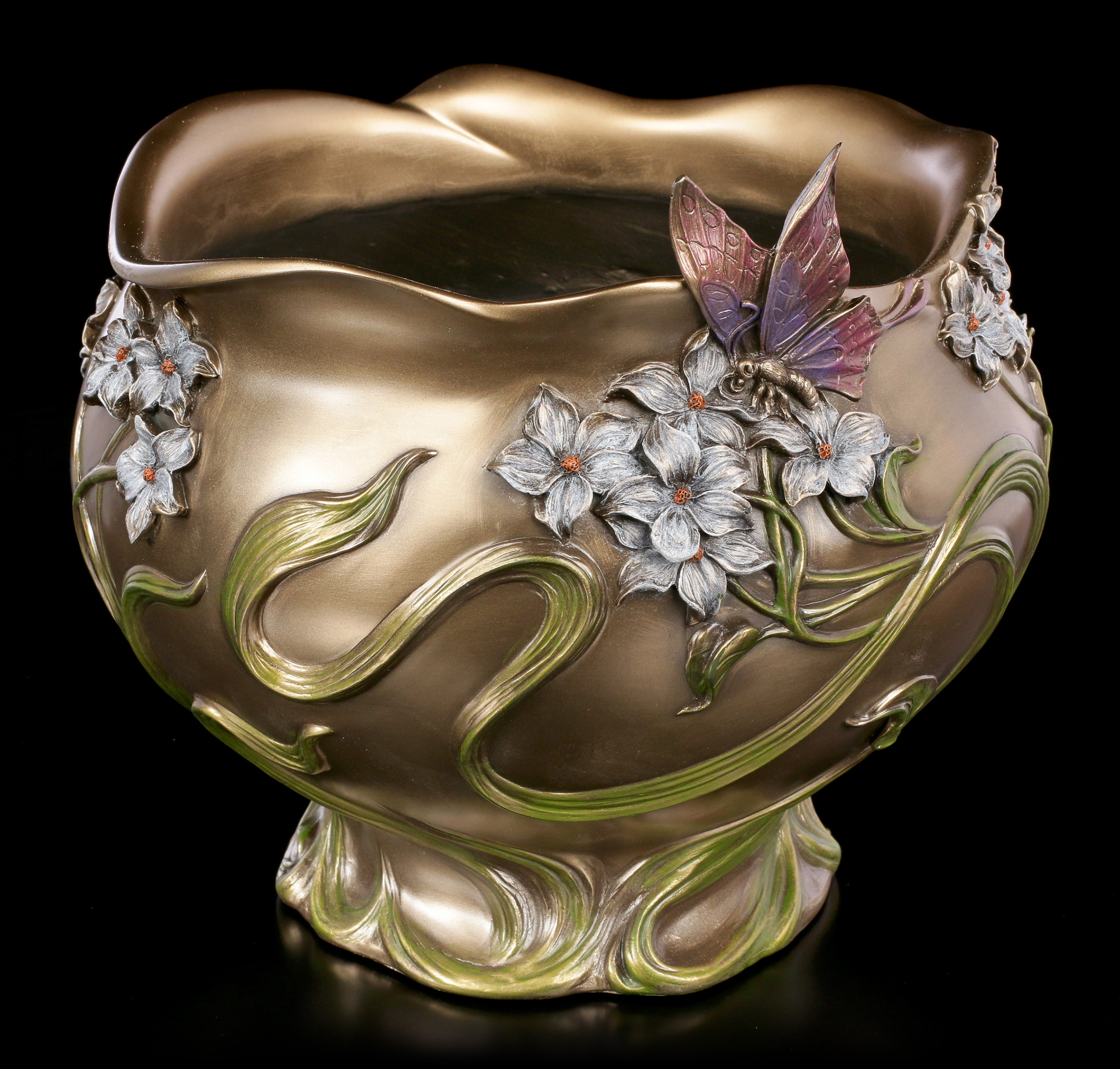 art nouveau pottery vase of art nouveau flower pot butterfly www figuren shop de for jugendstil blumen vase schmetterling