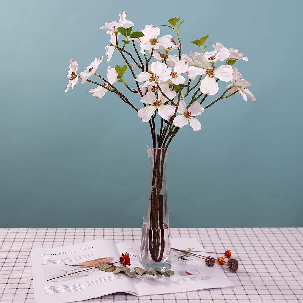 Artificial Cherry Blossom In Vase Of Amazon Com Yiliyajia 2pcs Artificial Dogwood Blossom Silk Flowers Pertaining to Amazon Com Yiliyajia 2pcs Artificial Dogwood Blossom Silk Flowers Bridal Flowers Bouquets Fake Cornus Bush for Wedding Home Office Decorationwhite Home