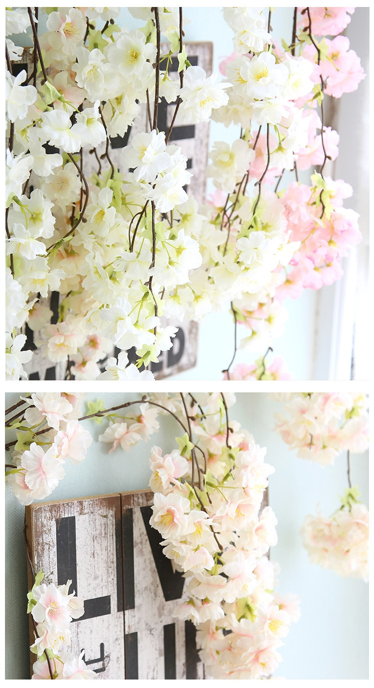 artificial cherry blossom in vase of artificial cherry blossoms plant wall cherry tree simulation pear for aeproduct getsubject