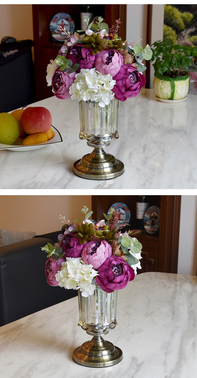 artificial flowers in clear vases of 2018 artificial flower bouquet home decoration wedding event and intended for a˜›a˜›a˜›pink flower and glass vase a˜ša˜ša˜š