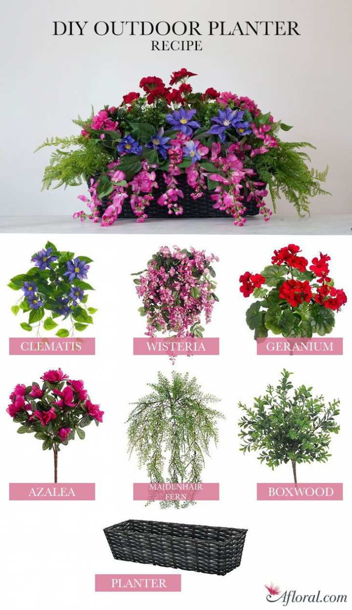 Artificial Flowers In Clear Vases Of Outdoor Artificial Flowers Fresh Diy Outdoor Planter Using Silk In Diy Outdoor Planter Using Silk Flowers Home Decor