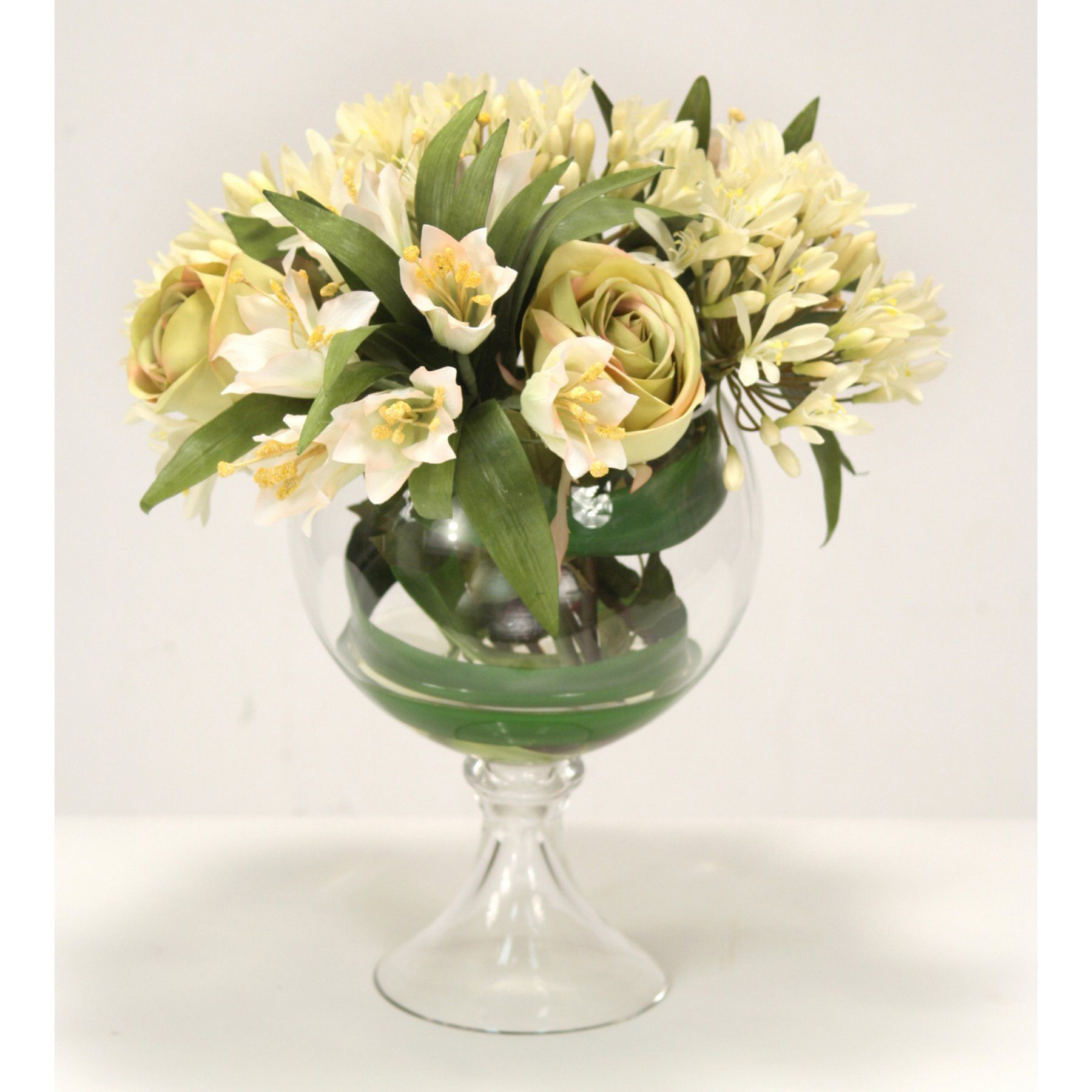 artificial flowers in vase marks and spencer of distinctive designs waterlook silk roses with agapanthus 17069 for distinctive designs waterlook silk roses with agapanthus 17069