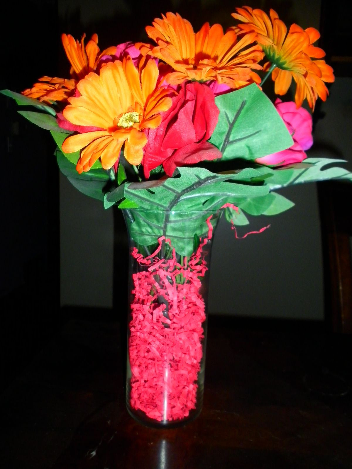 artificial flowers in vase with lights of flower vases flower vases pinterest inexpensive centerpieces with fun ways to make inexpensive centerpieces fake flowers and leaves with basket stuffing from a dollar store and at some a nice vase
