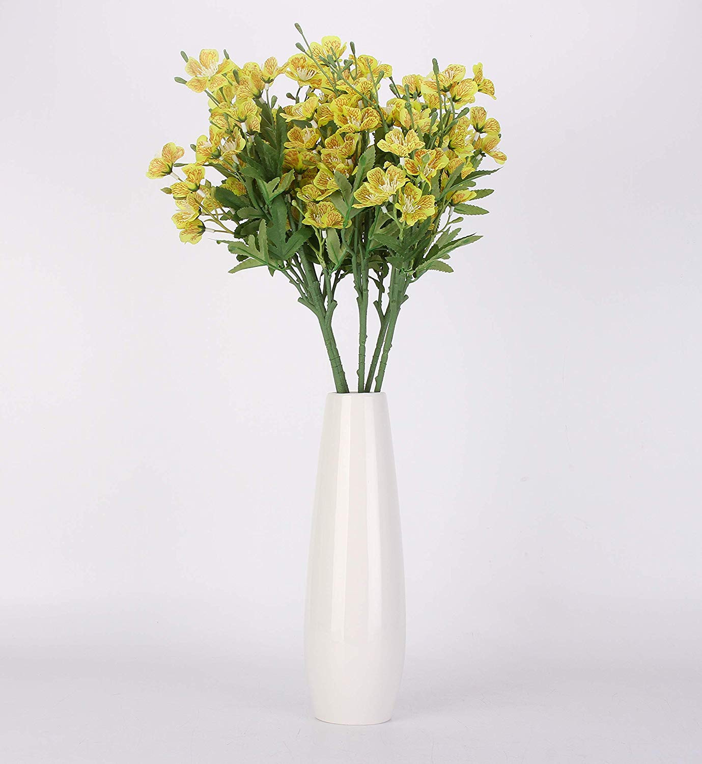 artificial flowers in vase yellow of amazon com nolast artificial flowers 25 long stem faux flower throughout amazon com nolast artificial flowers 25 long stem faux flower arrangements for tall vases home party garden office wedding decoration 5 pcs yellow home