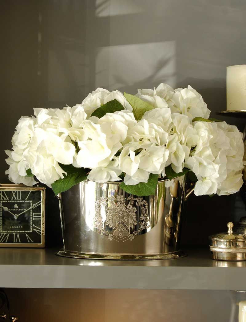 artificial hydrangeas in vase of hydrangea set in a champagne cooler rtfact artificial silk regarding hydrangea set in a champagne cooler rtfact artificial silk flowers