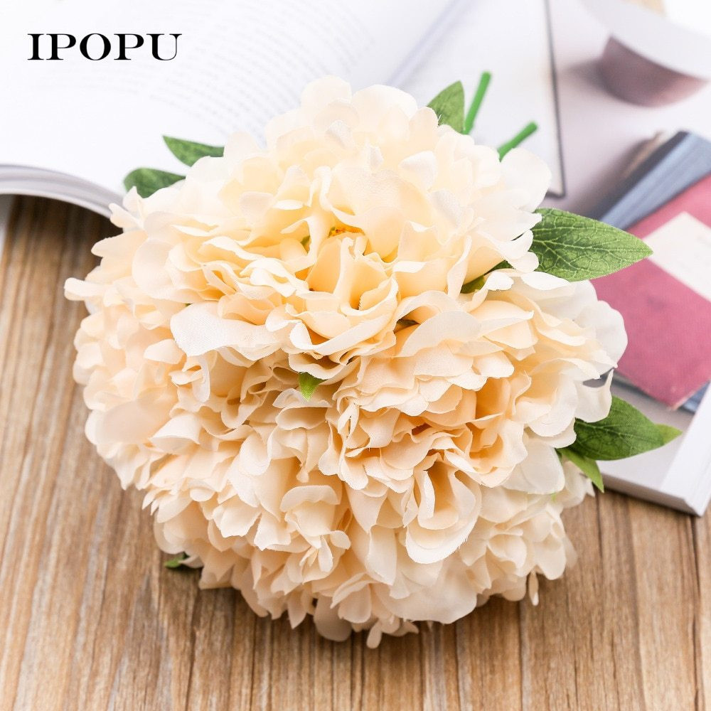 artificial peonies in glass vase of a'1pc peony silk artificial flower bridal bridesmaid hydrangeas intended for 1pc peony silk artificial flower bridal bridesmaid hydrangeas bouquet wedding flowers home party flowers deoration flora