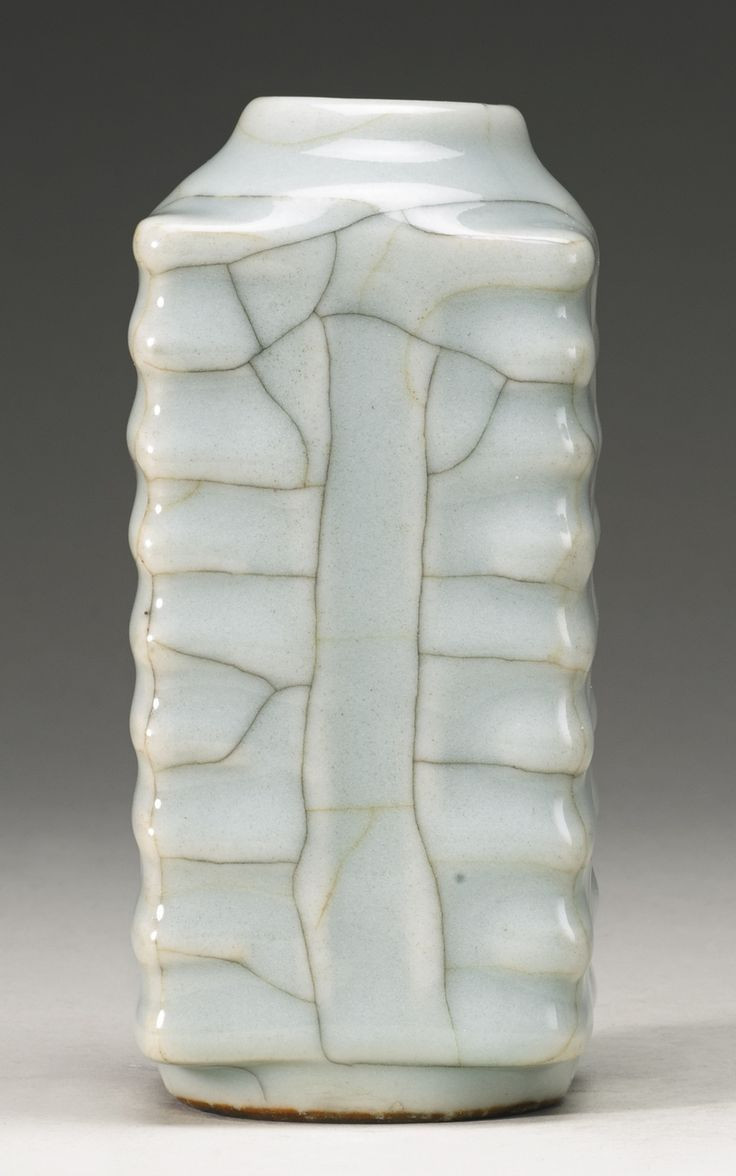 asian carved faux ivory vase of guan type alain r truong intended for a guan type cong vase qing dynasty 18th century photo sothebys