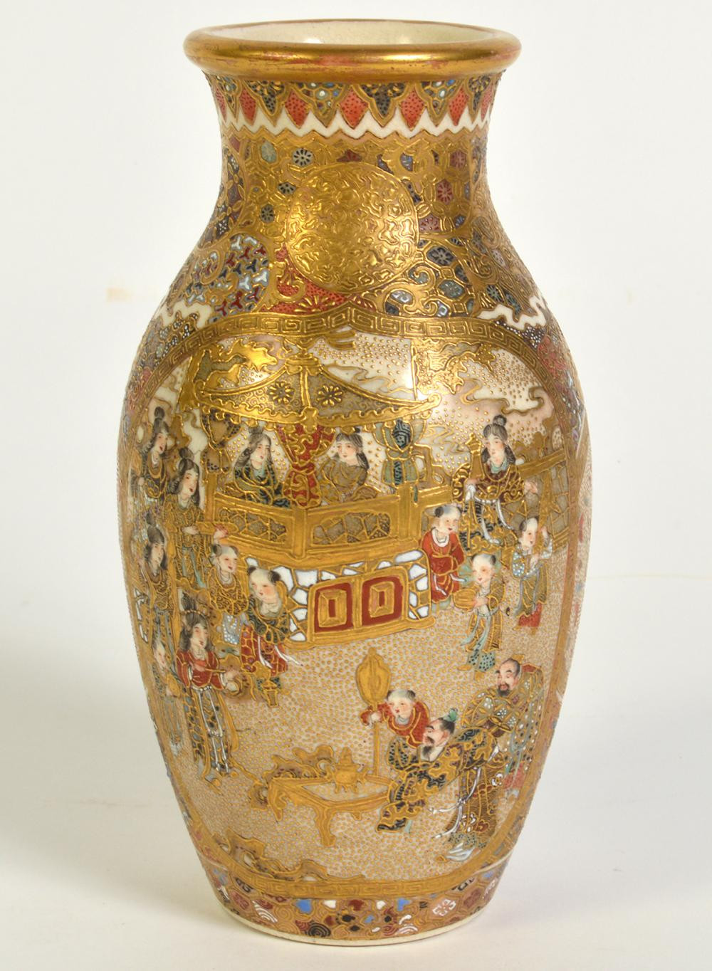 asian vase markings of japanese satsuma for sale inside satsuma vase w hand painted panels gilt trim