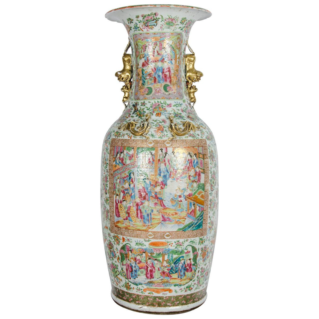 asian vase stand of large 19th century chinese rose medallion vase on stand pinterest with regard to large 19th century chinese rose medallion vase on stand 1stdibs com