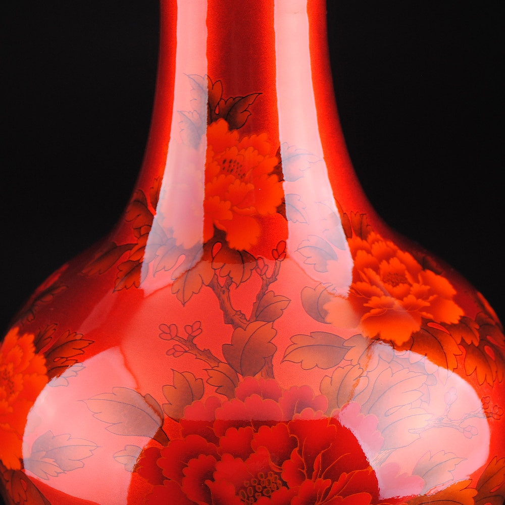 asian vases for sale of chinese style crystal glaze ceramic red peony vase porcelain vases for chinese style crystal glaze ceramic red peony vase porcelain vases for artificial flower decoration vases in vases from home garden on aliexpress com