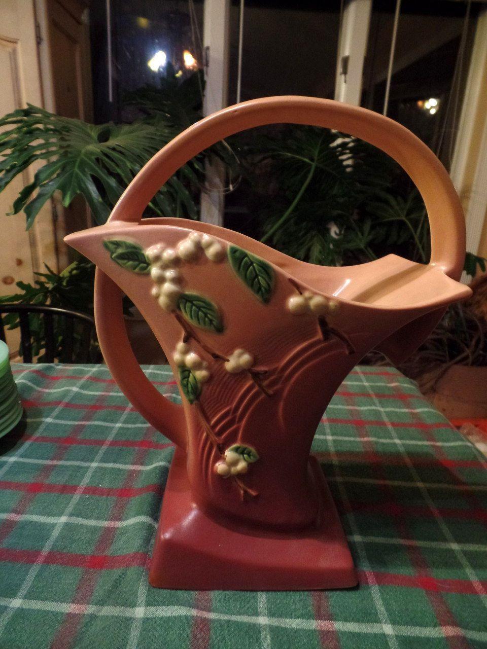 at home store vases of roseville basket vase 1940s snowberry 13 pink snowberry 1940s 13 throughout roseville basket vase 1940s snowberry 13 pink snowberry 1940s 13 tall home decor store home decor patio and garden store