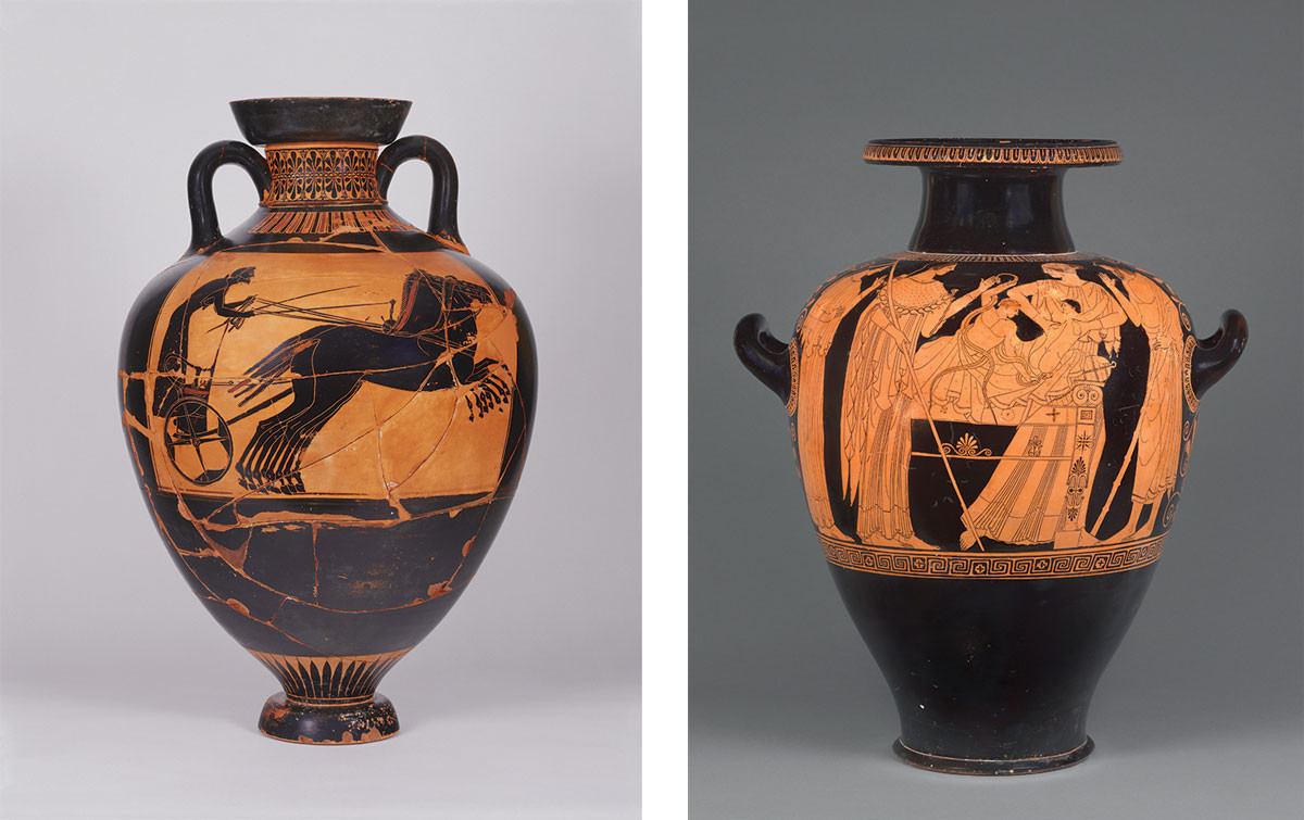 19 Unique athenian Black Figure Vases