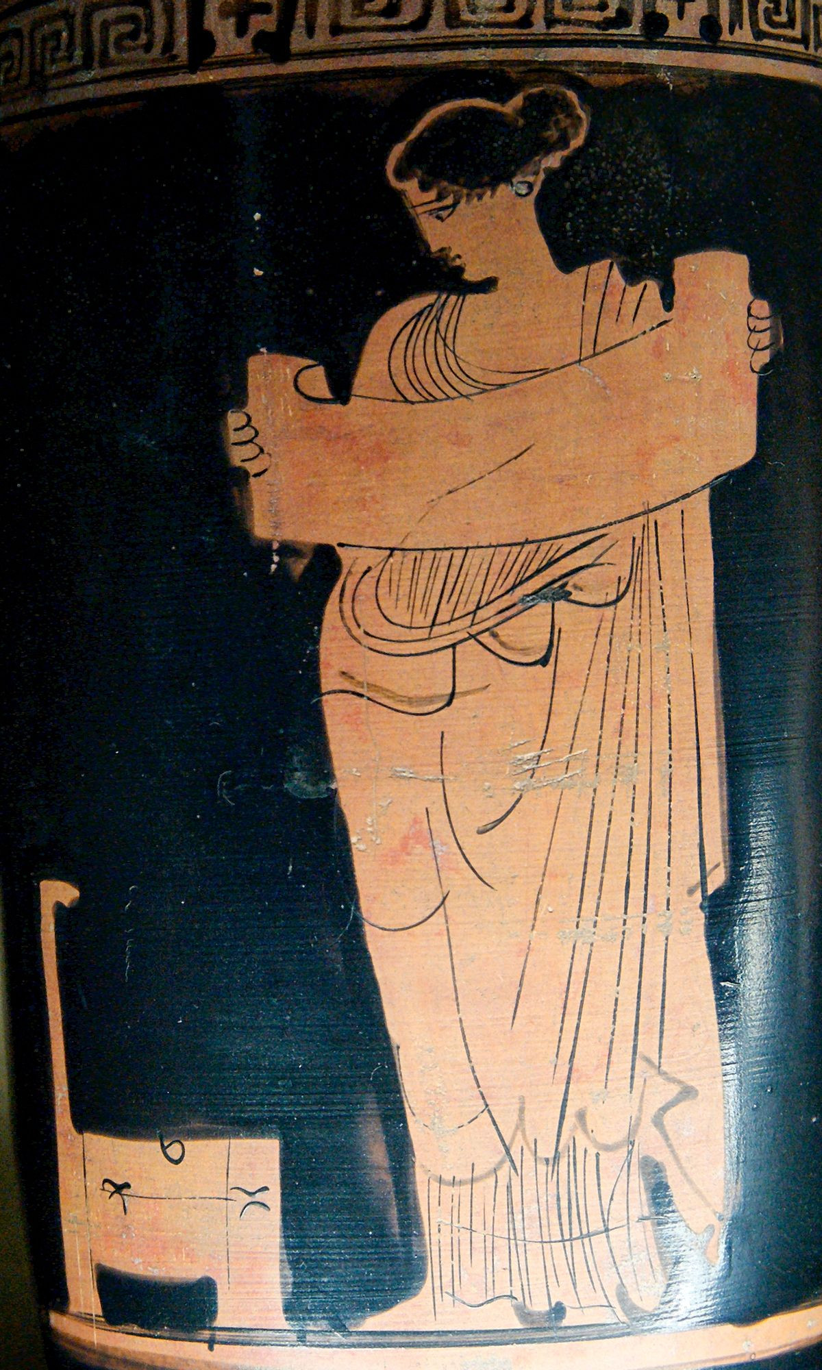 athenian black figure vases of muses wikipedia regarding 1200px muse reading louvre ca2220