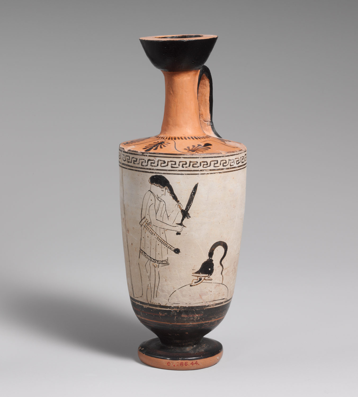 athenian black figure vases of theater in ancient greece essay heilbrunn timeline of art within terracotta lekythos oil flask