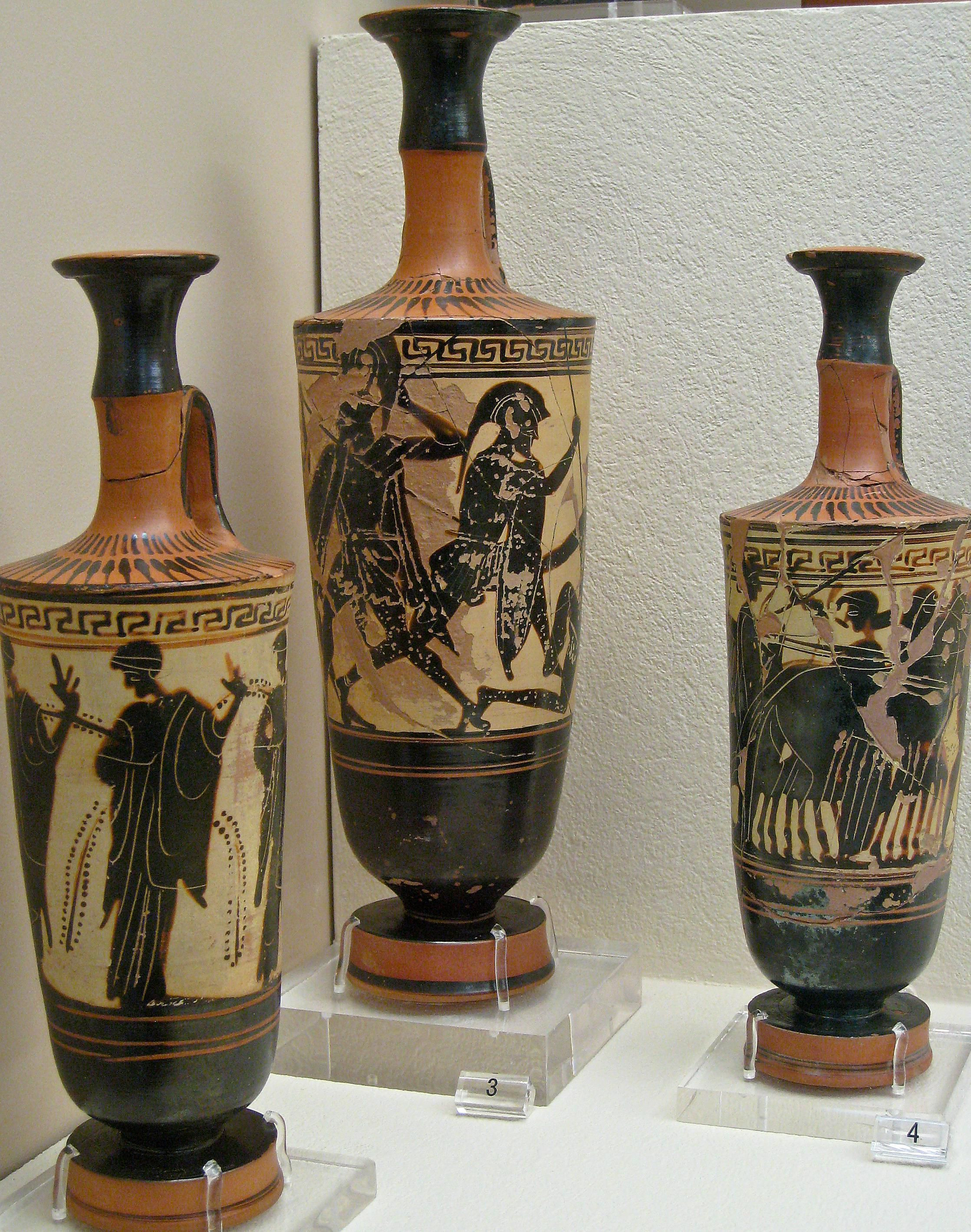 athenian black figure vases of time periods of pottery from ancient greece with white ground lekythoi 589cfa6e3df78c47587897f0