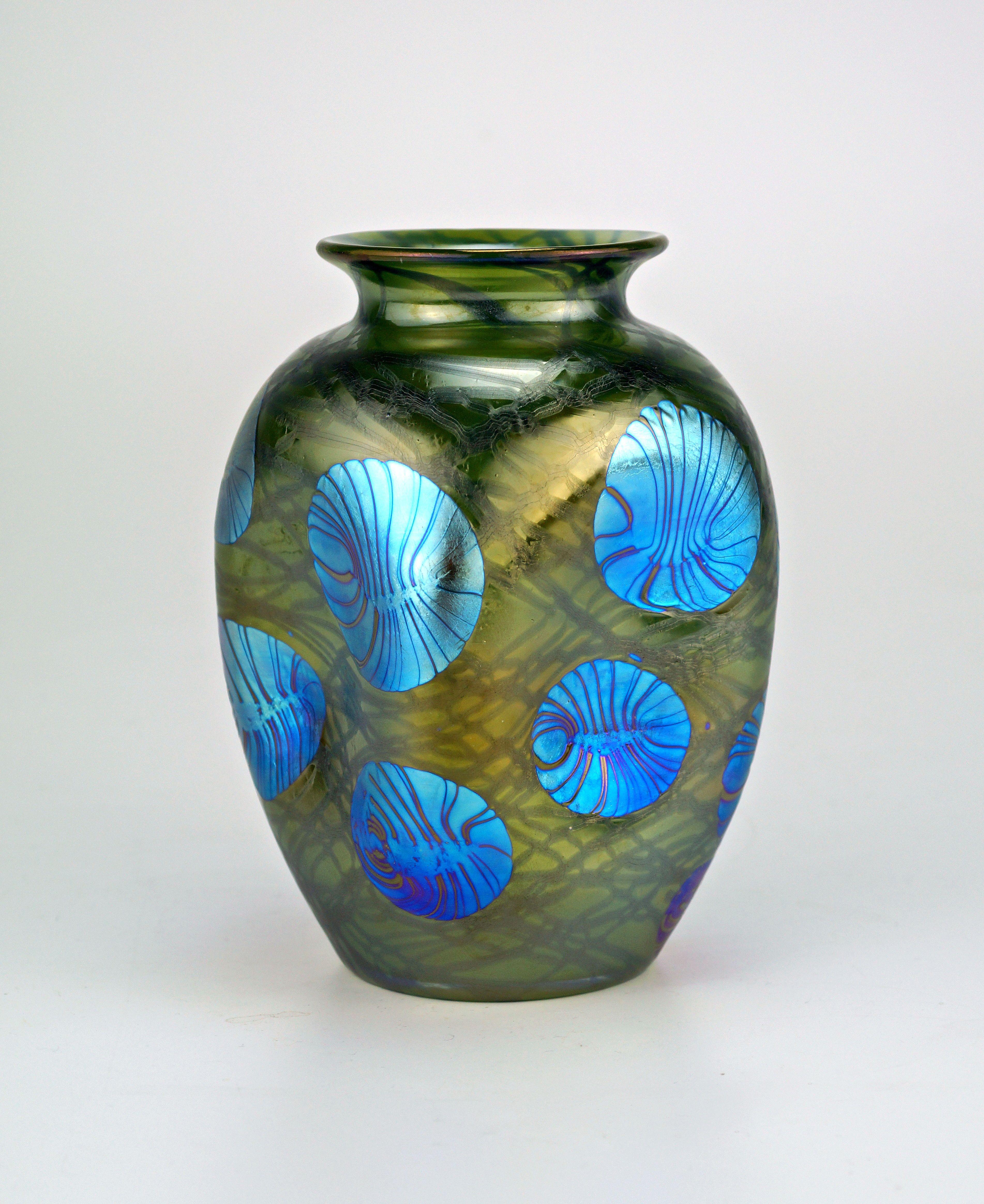azure blue art glass vase of loetz pha¤nomen genre 1 215 signed jarrones pinterest glass art regarding glass art a· loetz pha¤nomen genre 1 215 signed