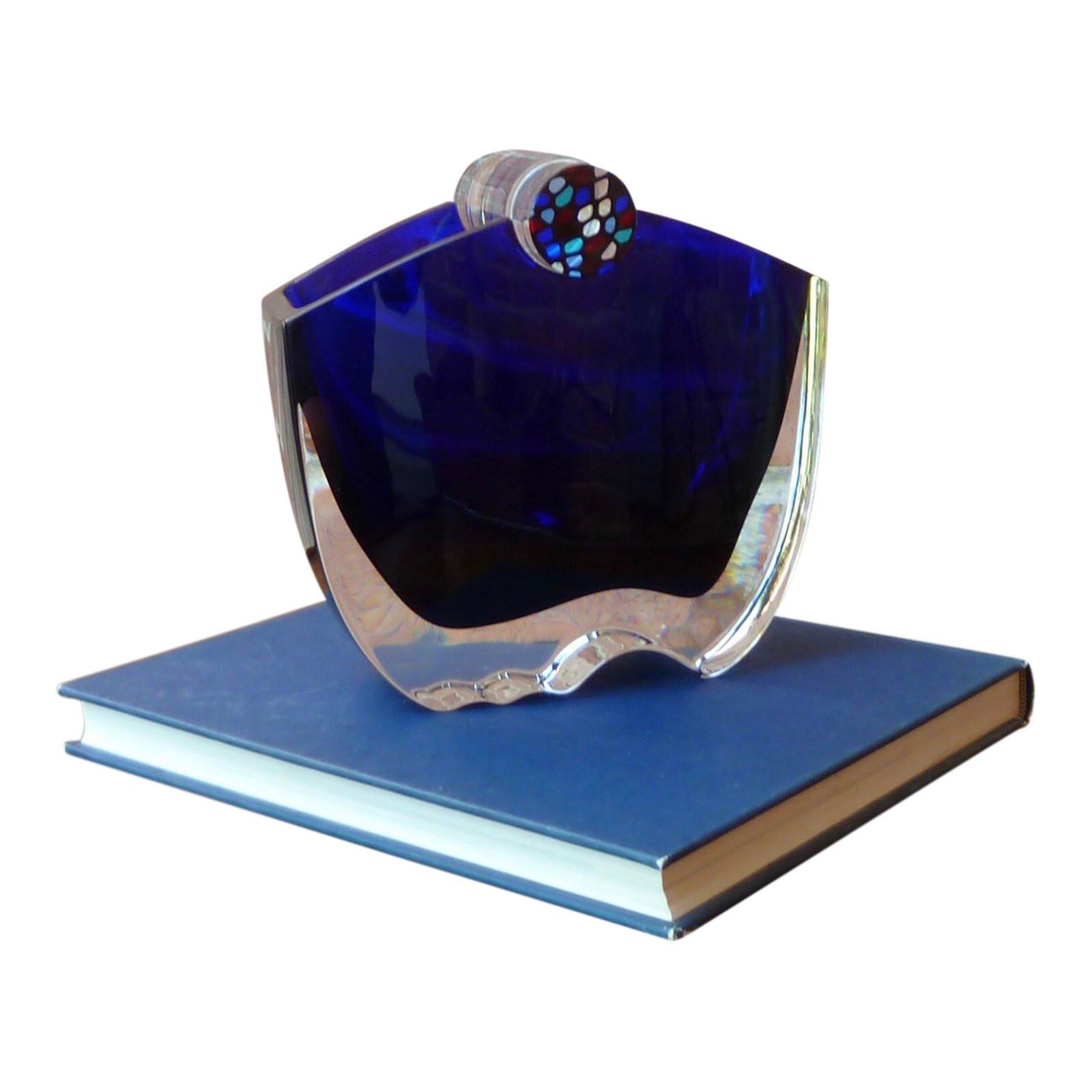baccarat blue vase of baccarat oceanie cobalt blue crystal vase chairish with baccarat oceanie cobalt blue crystal vase 3169