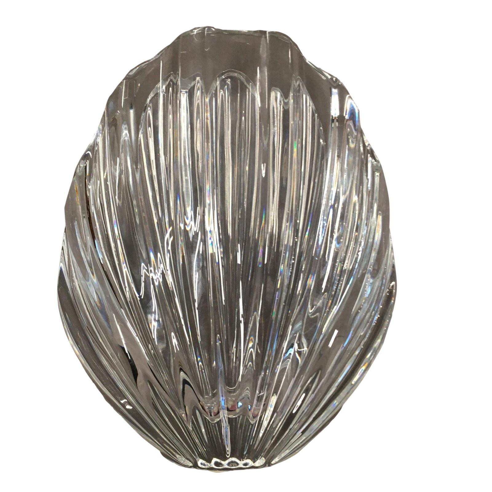 baccarat bud vase of robert rigot for baccarat shell crystal vase chairish with robert rigot for baccarat shell crystal vase 5047