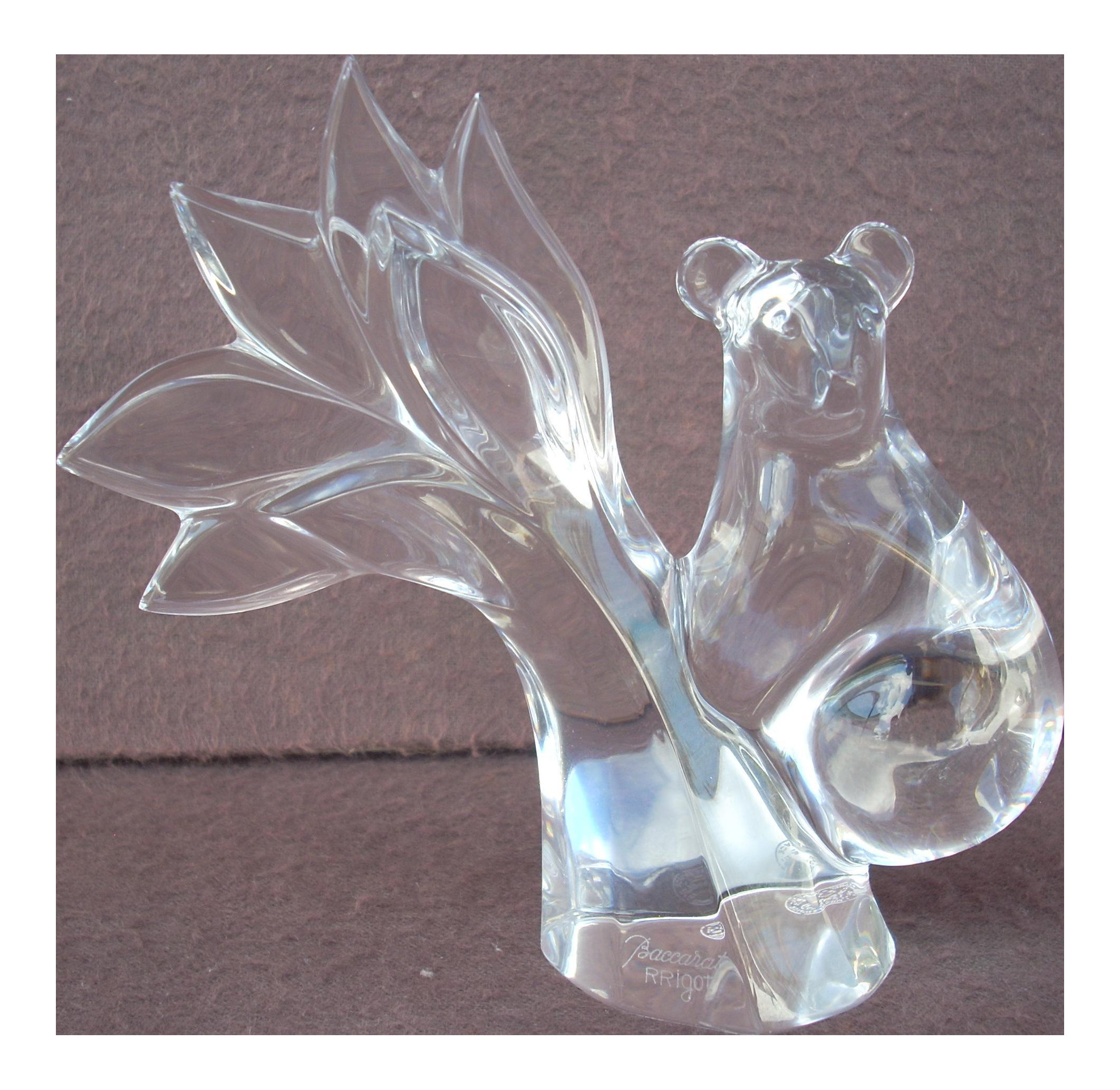 baccarat crystal bud vase of baccarat clear crystal climbing bear chairish with baccarat clear crystal climbing bear 8068