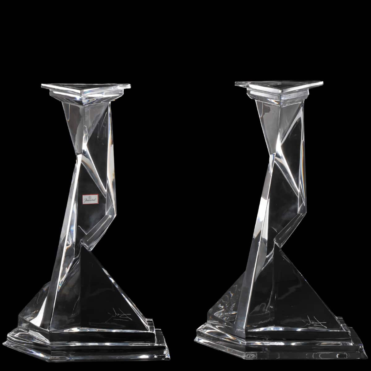 baccarat crystal vase of glass crystal throughout salvador dali for baccarat castor pollux candlesticks ahlers ogletree auction gallery