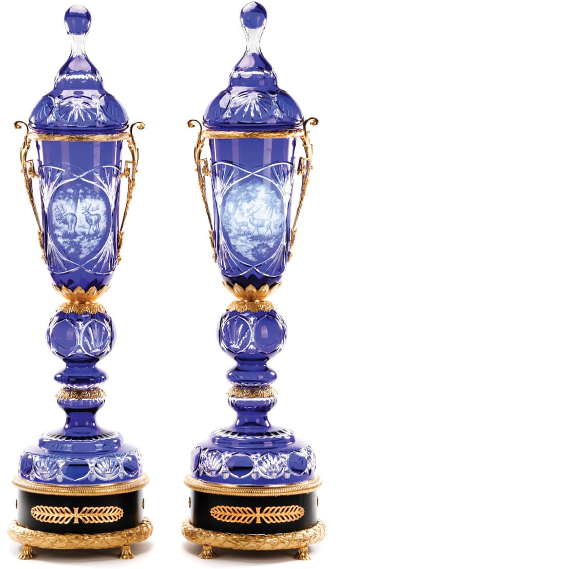 baccarat crystal vase prices of glass crystal with regard to palatial dore bronze mounted crystal floor urns ahlers ogletree auction gallery