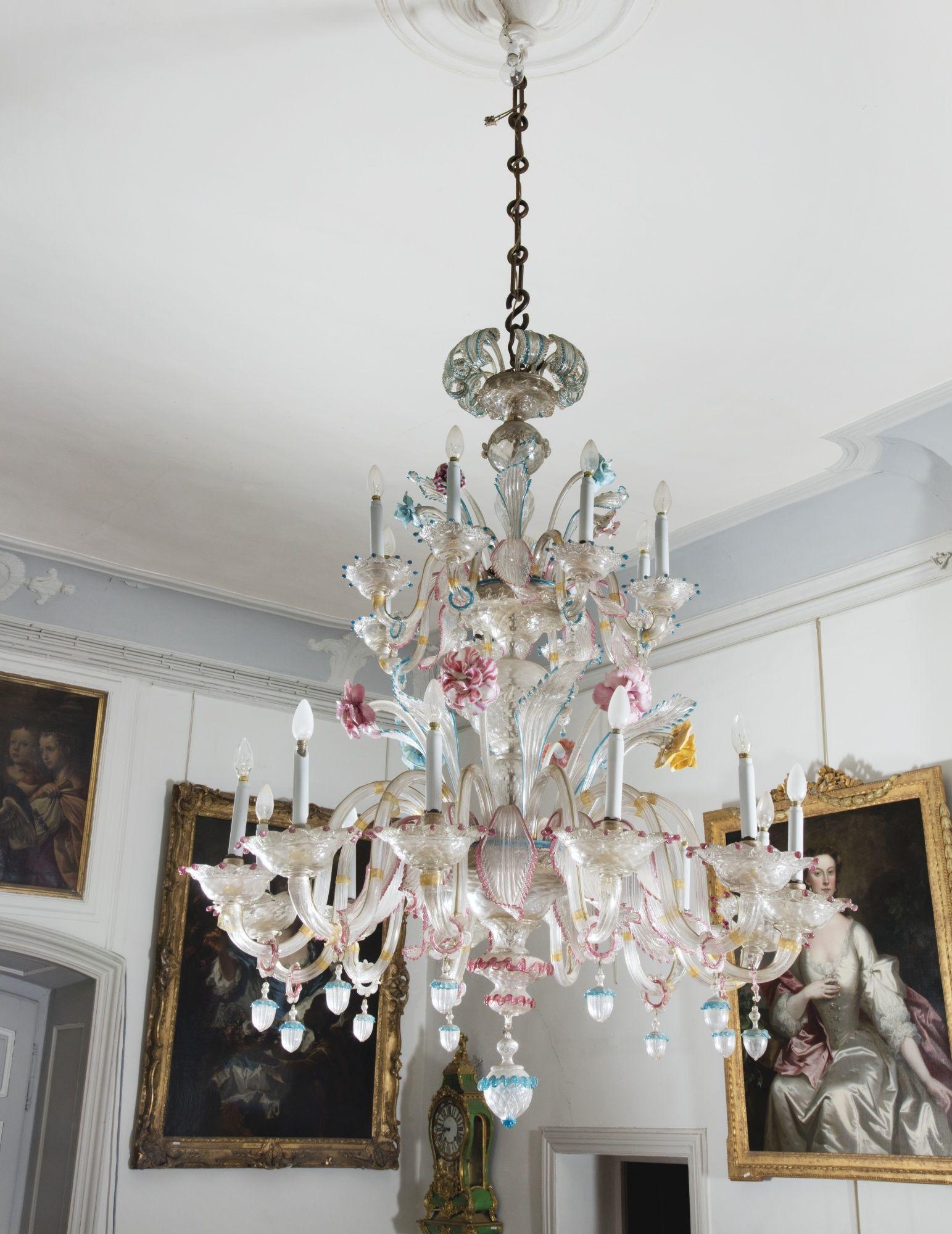 baccarat harmonie bud vase of a venetian twenty lights murano glass chandelier late 19th century with regard to a venetian twenty lights murano glass chandelier late 19th century