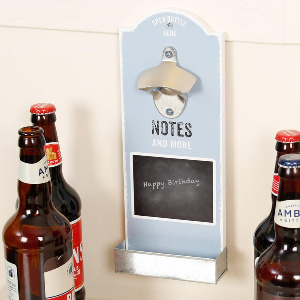 beer bottle vase of chalkboard wall mounted bottle opener by dibor notonthehighstreet com in chalkboard wall mounted bottle opener