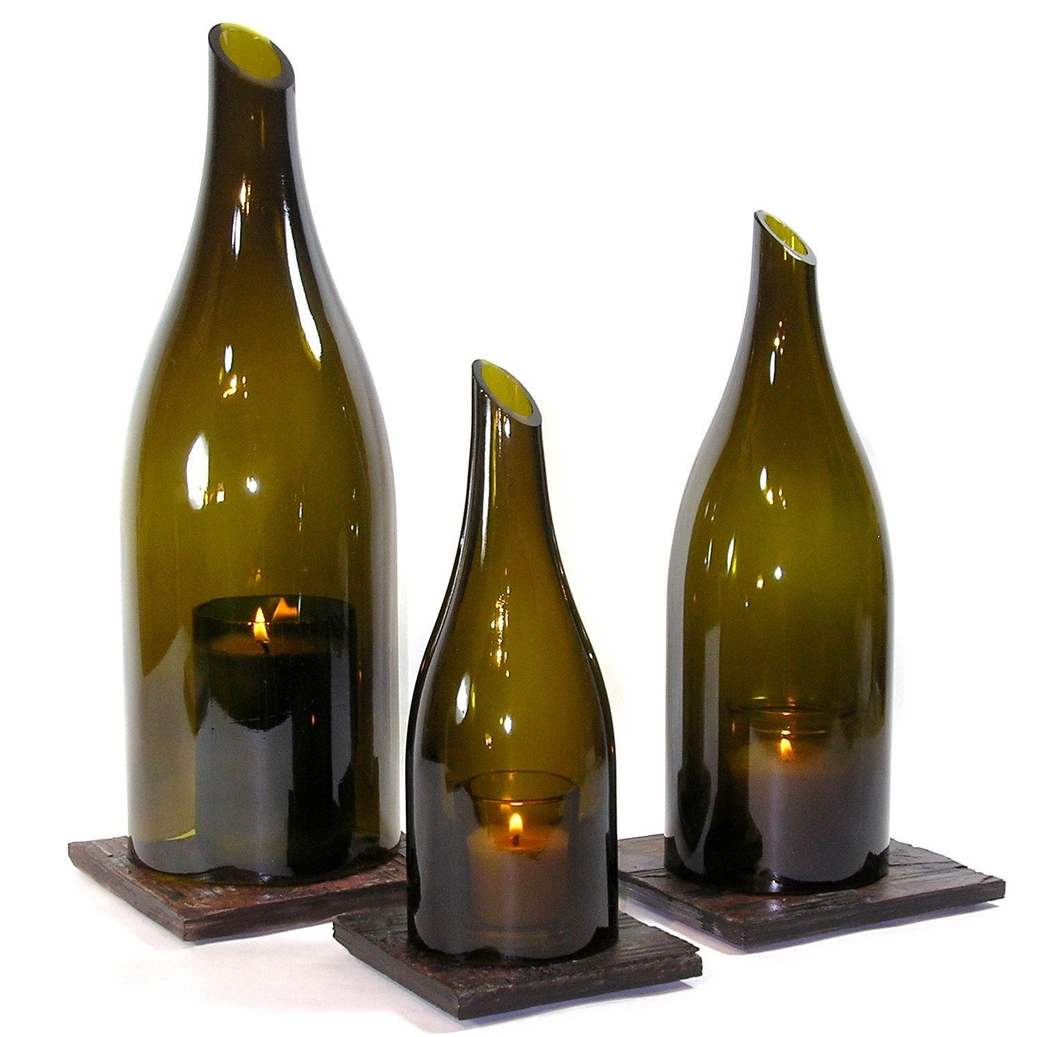 Beer Bottle Vase Of Wine Bottle Hurricane Lantern Trio Bottle Wine and Fun Diy within Wine Bottle Hurricane Lantern Trio Via Etsy