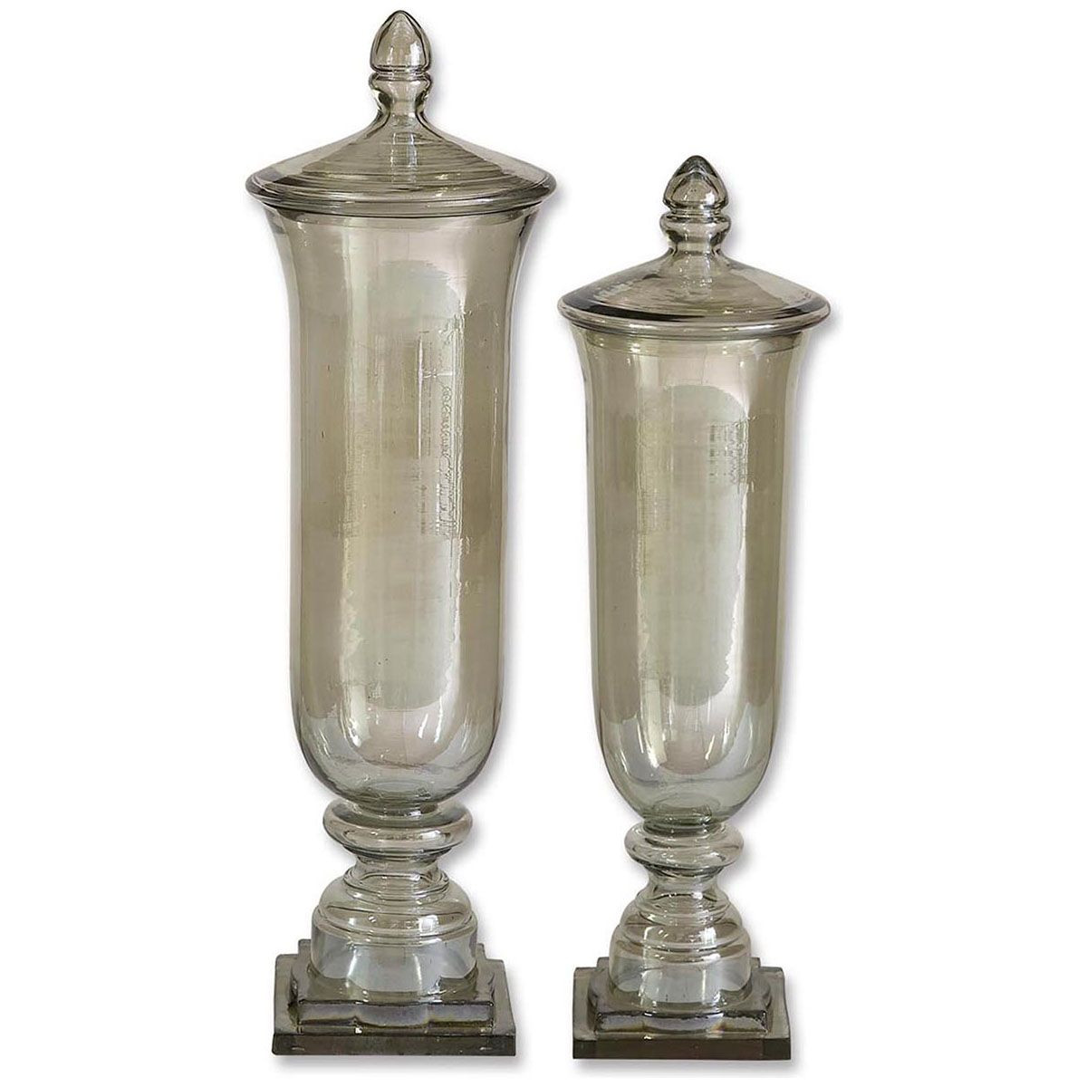 bell jar vase of uttermost gilli glass decorative containers set of 2 19148 throughout uttermost gilli glass decorative containers set of 2 19148