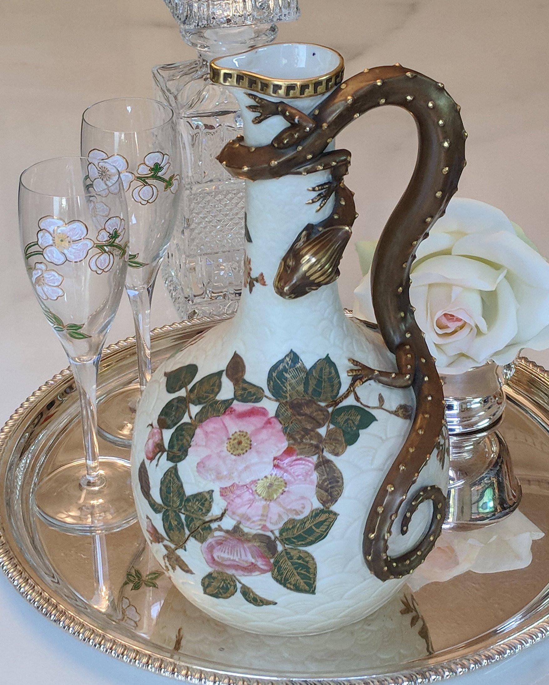 belleek china vase of antique royal worcester blush ivory porcelain ewer centrepiece etsy in dc29fc294c28epowiac299ksz