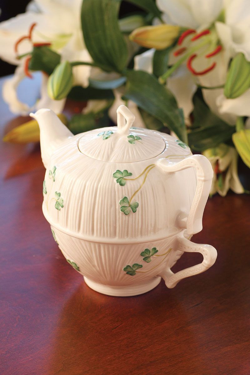 belleek vase patterns of belleek china shamrock tea for one set belleek porcelain with belleek china harp shamrock tea for one set