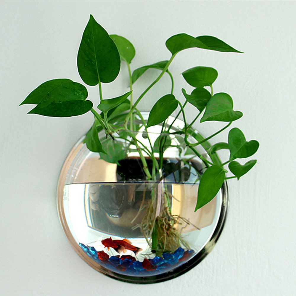 betta fish and plant vase of hot sale semicircular wall hanging glass plant flower vase with regard to pot plant wall mounted hanging bubble bowl fish tank aquarium home art decor set home decoration