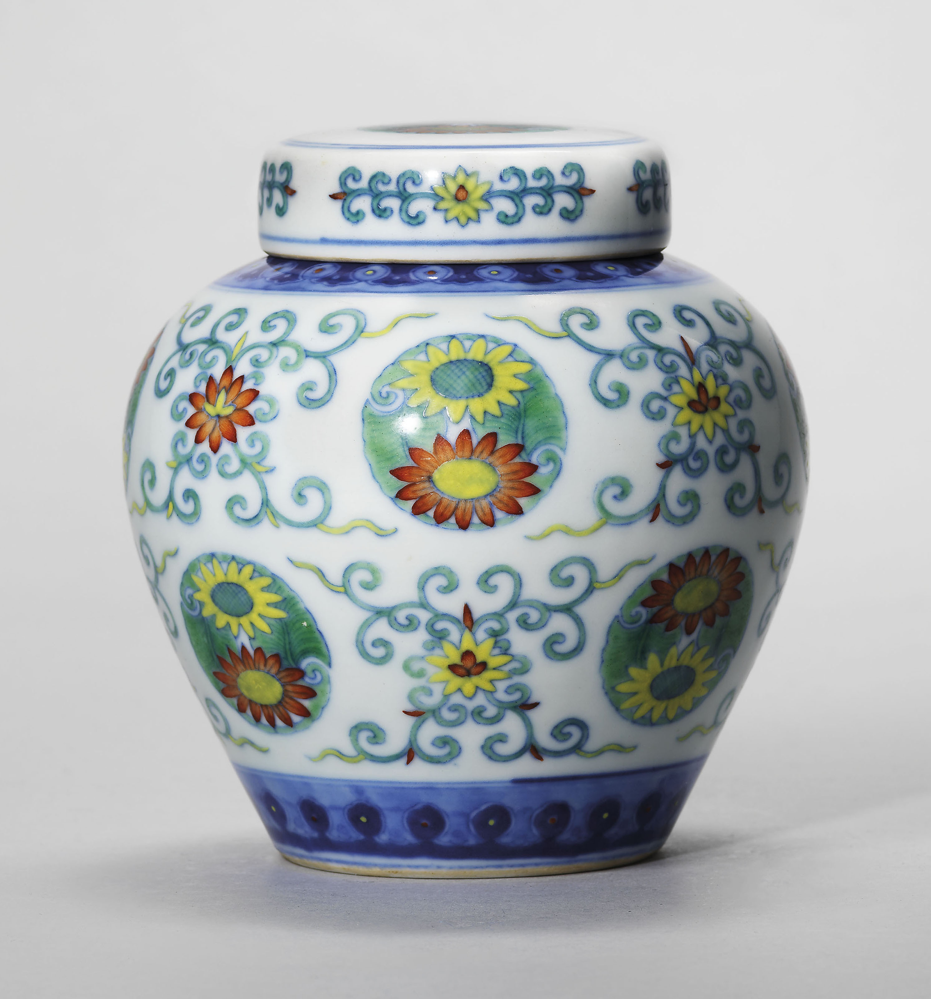 big chinese vases for sale of a guide to the symbolism of flowers on chinese ceramics christies inside a doucai chrysanthemum jar and cover qianlong six character seal mark in underglaze blue