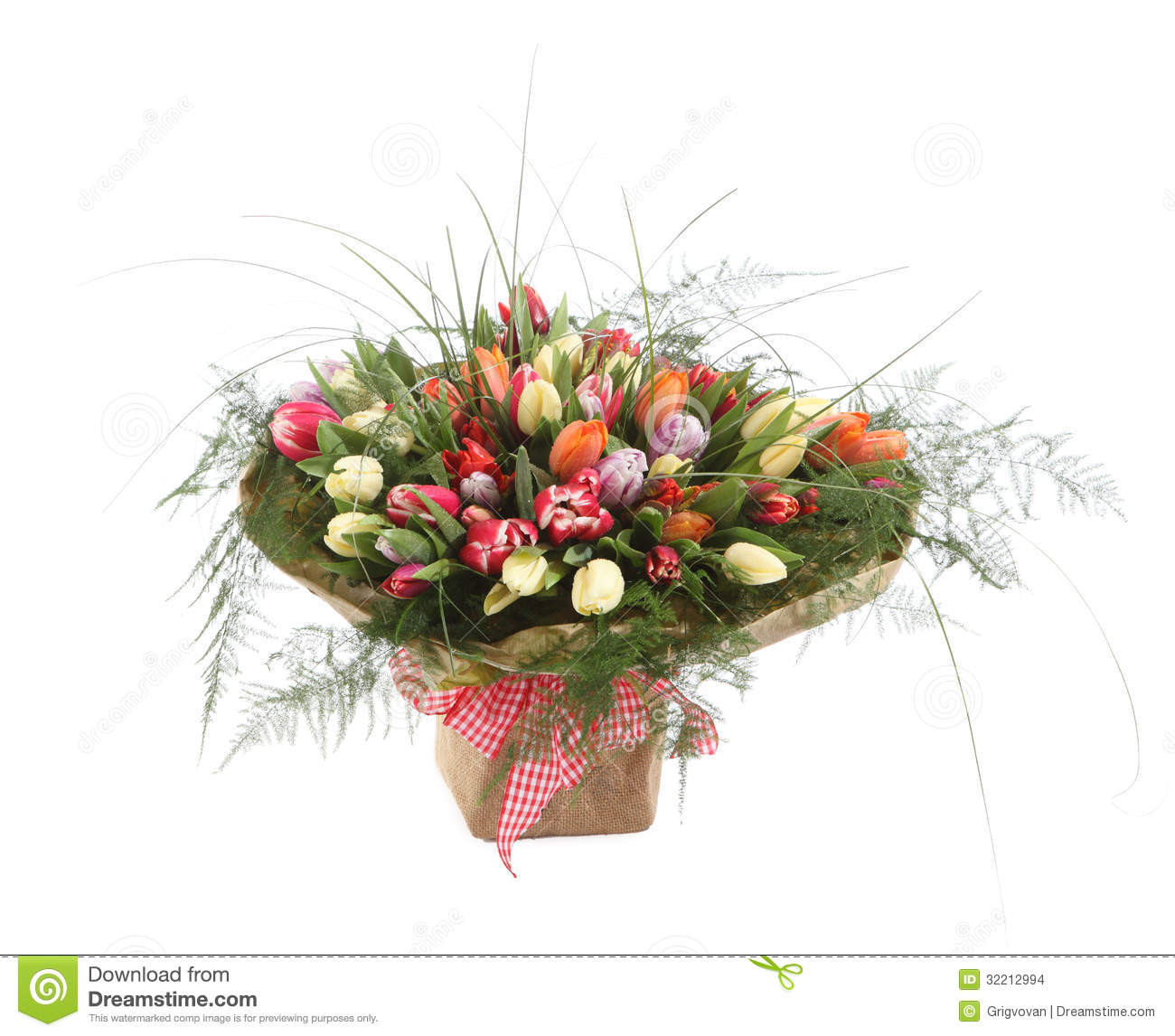 big white flower vase of a large bouquet of color tulips in a square vase stock photo intended for a large bouquet of color tulips in a square vase