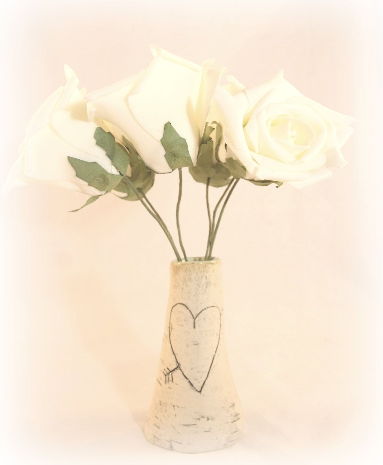 birch tree flower vases of small ceramic faux birch vase bud vase carved heart vase with small ceramic faux birch vase bud vase carved heart vase by beachjema on etsy