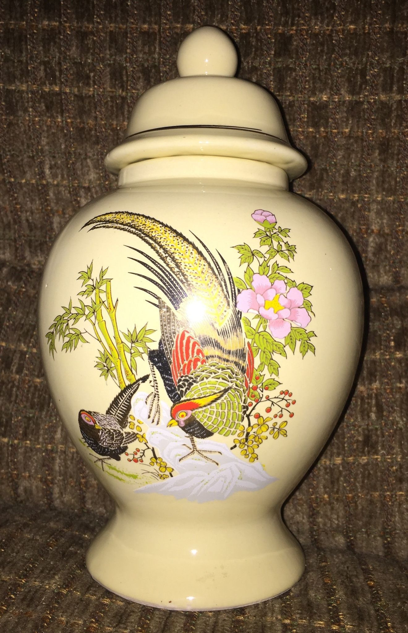 bird vase white of vintage asian vase jar hand painted pinterest asian vases and for vintage collectible asian vase jar hand painted two birds bamboo and flowers