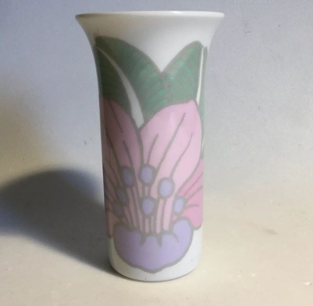 Bjorn Wiinblad Vase Of Rosenthal Porcelain Vase Flared Rim Pastel Pop Art Iris Flower 4 Throughout Rosenthal Porcelain Vase Flared Rim Pastel Pop Art Iris Flower 4 Bjorn Wiinblad Ebay