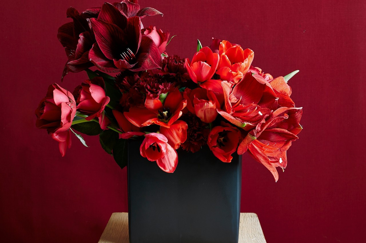 black ceramic cube vase of this valentines day dont say it with a dozen roses wsj with od bf368 flower m 20150211115250
