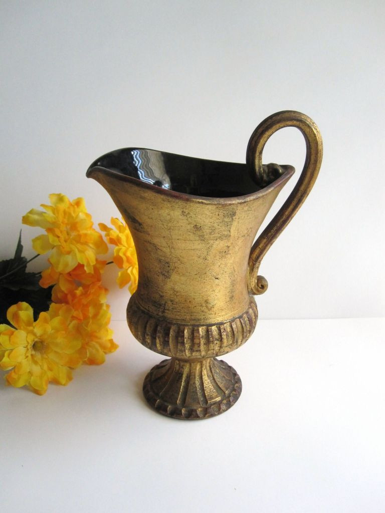 Black Ceramic Vase Of Italy Pottery Vase 167 3 Gold Painted Black Ceramic Pottery Handled In Italy Pottery Vase 167 3 Gold Painted Black Ceramic Pottery Handled Mahagranda De Home Maha De Deco Pour Vase