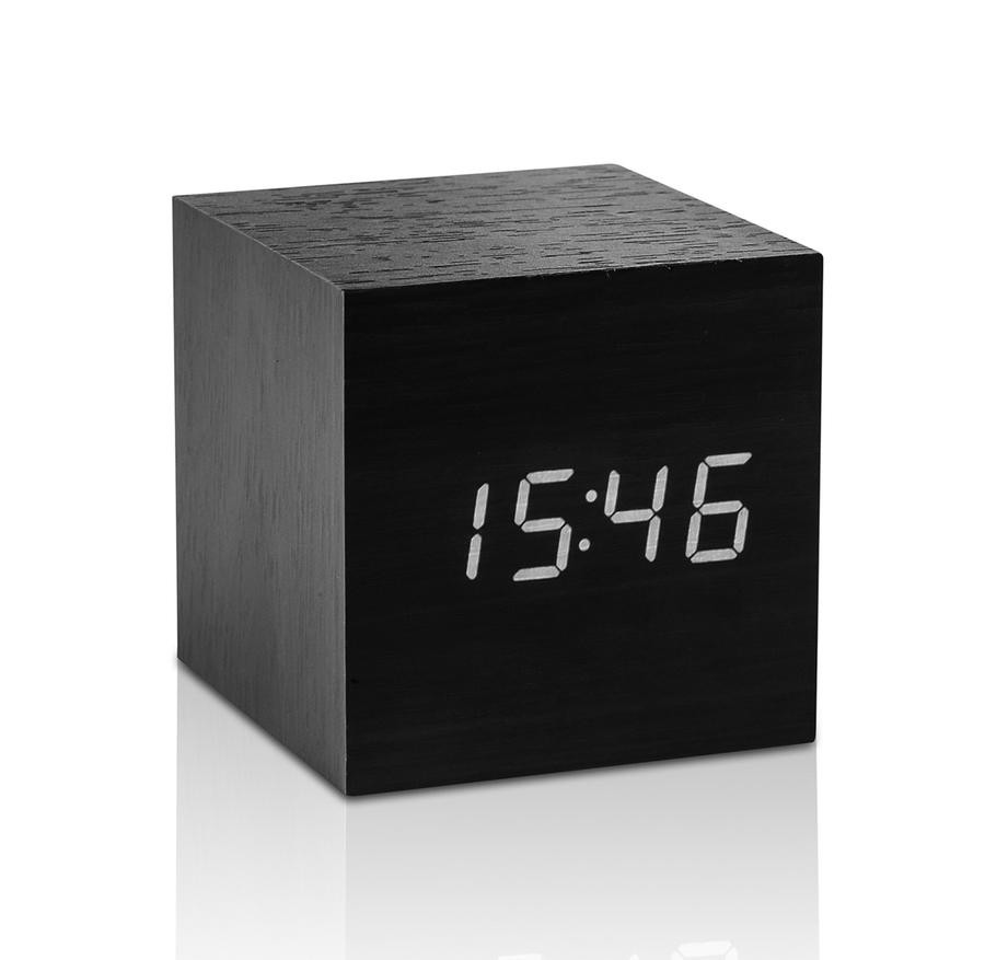 Black Glass Cube Vase Of Home Decor Page 2 the Getty Store Pertaining to Cube Click Clock Black