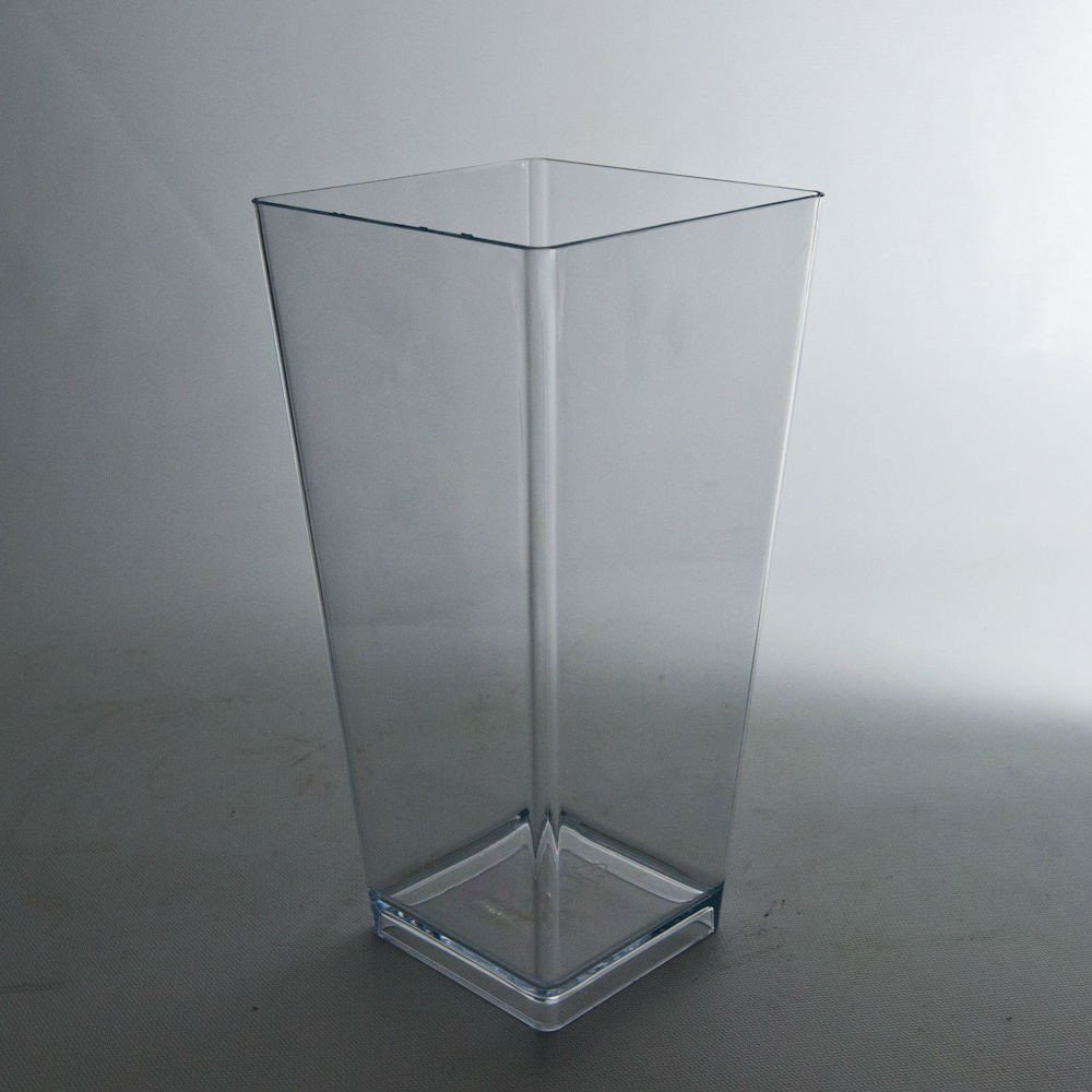 Black Glass Cube Vase Of Plastic Vases wholesale Flowers and Supplies within 9 Plastic Tapered Vase Clear