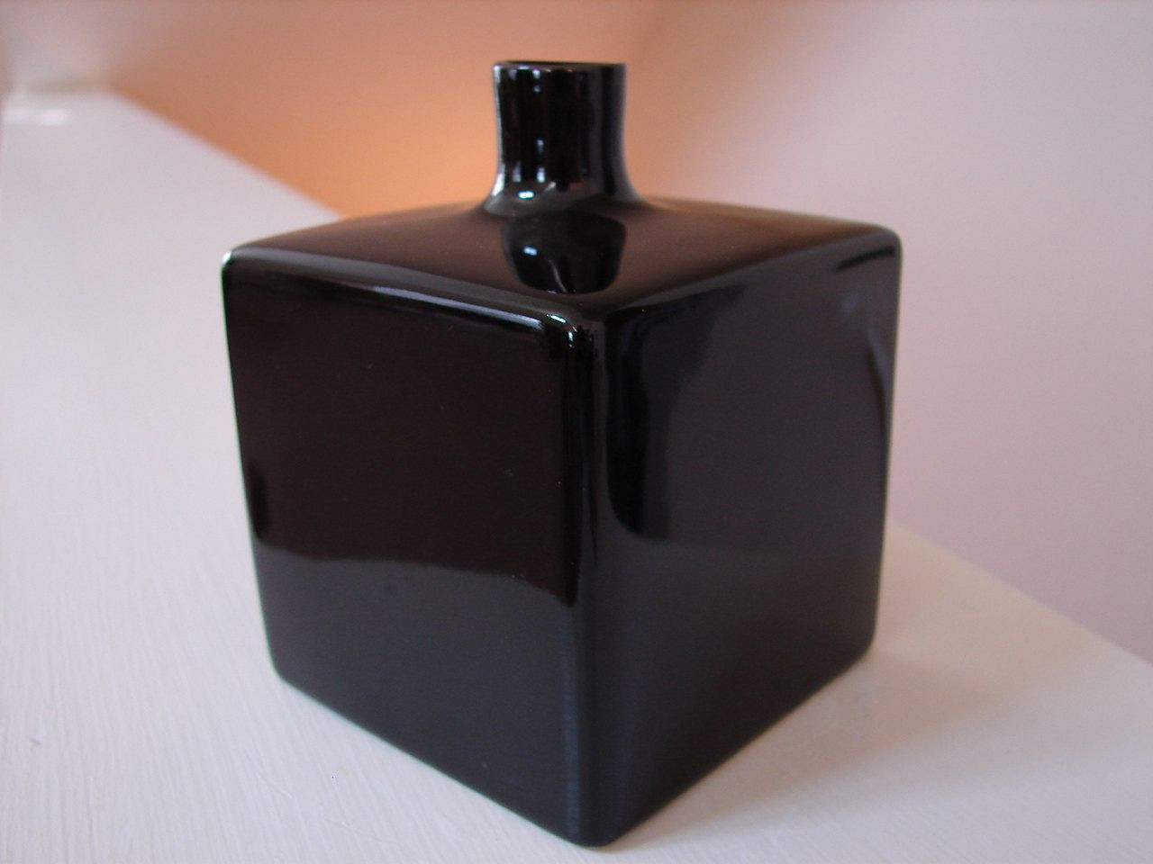 black glass cube vase of vintage studio nova black cube art deco style bud vase original in studio nova black cube art deco style bud vase original box