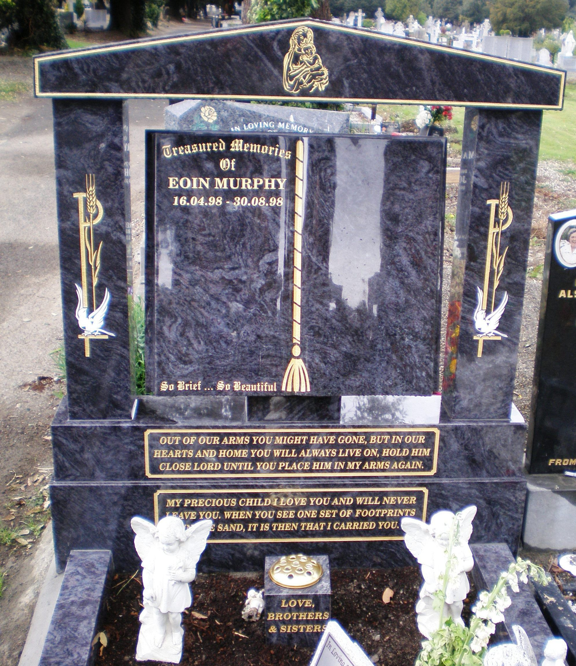 black granite cemetery vases of robinson memorials headstones with kerbs pertaining to headstones with kerbs