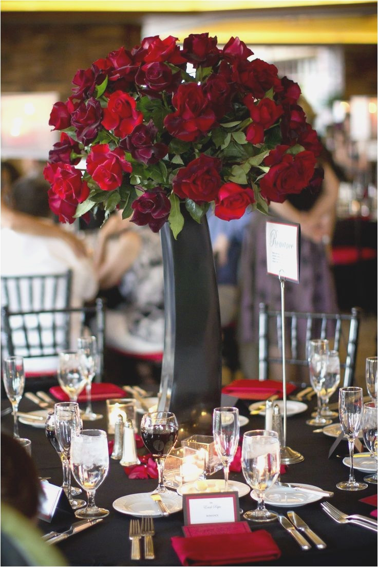Black Vases for Wedding Centerpieces Of Luxurious Red and White Wedding Centerpieces Best Wedding Style with Regard to 0736dom 2433wh Vases Black Tall Centerpieces White Flowers Wedding Centerpiece at the Ivy Room Chicagoi 0d