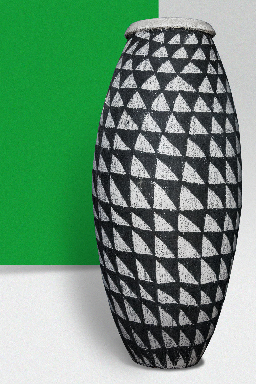 black white floor vase of muse modern burkina floor vase throughout burkina floor vase a handmade and gloriously imperfect graphic pattern draws the eye in and the heart out 55h x 24 5od