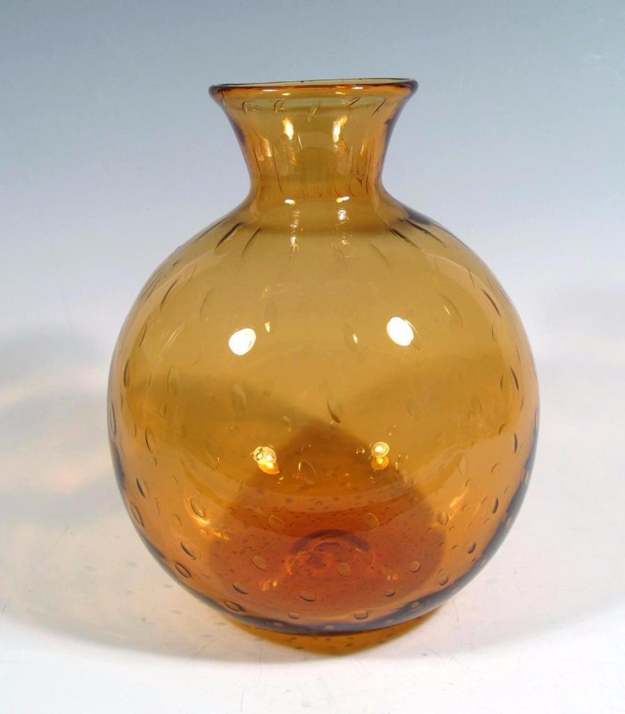 blenko green glass vase of blenko art glass rainbow bischoff era controlled bubble myers ball for 1 of 3only 1 available